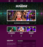 Sunrise Nightclub Joomla Template