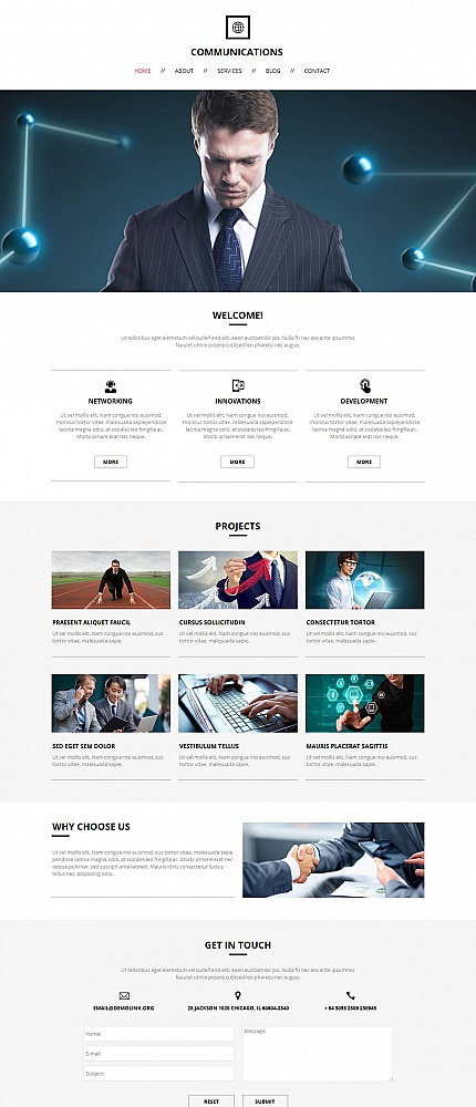 Communications Most Popular website inspirations at your coffee break? Browse for more Moto CMS HTML #templates! // Regular price: $139 // Sources available:<b>Sources Not Included</b> #Communications #Most Popular #Moto CMS HTML