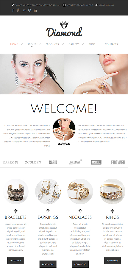 Jewelry Most Popular website inspirations at your coffee break? Browse for more Responsive JavaScript Animated #templates! // Regular price: $69 // Sources available: .HTML,  .PSD #Jewelry #Most Popular #Responsive JavaScript Animated