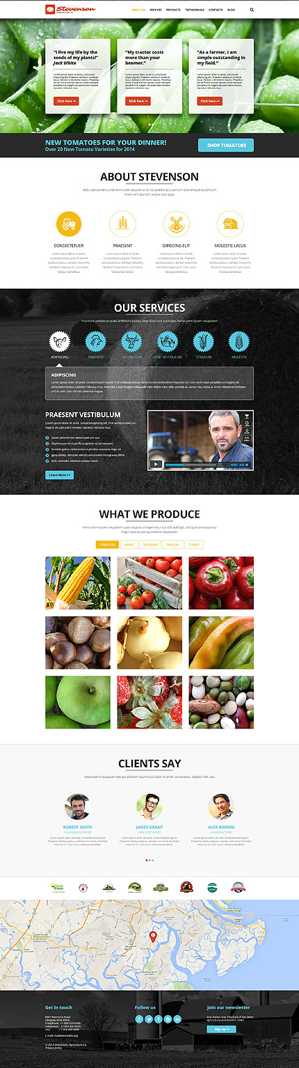 Agriculture Most Popular website inspirations at your coffee break? Browse for more Joomla #templates! // Regular price: $75 // Sources available: .PSD, .PHP #Agriculture #Most Popular #Joomla