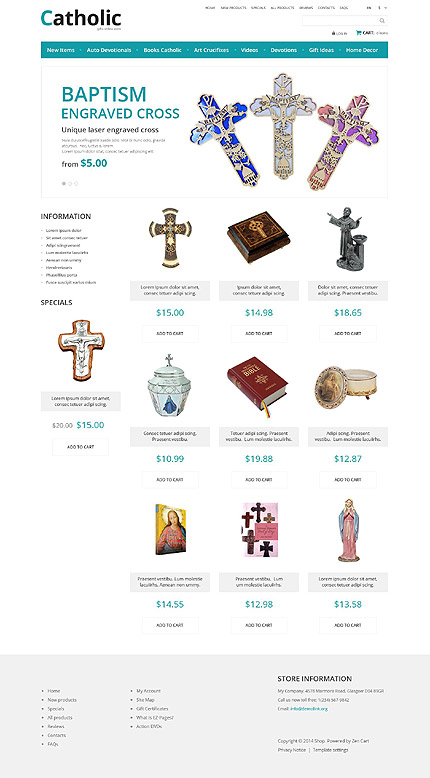 Religious website inspirations at your coffee break? Browse for more Zen Cart #templates! // Regular price: $139 // Sources available: .PSD, .PHP #Religious #Zen Cart