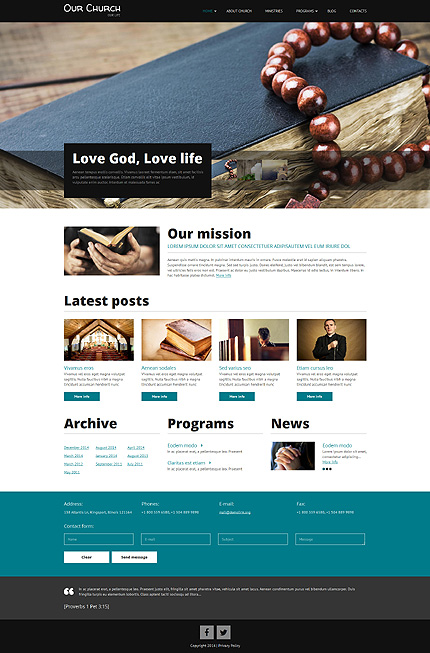 Modern Church Drupal Template