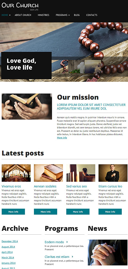 Religious Most Popular website inspirations at your coffee break? Browse for more Drupal #templates! // Regular price: $75 // Sources available: .PSD, .PHP #Religious #Most Popular #Drupal