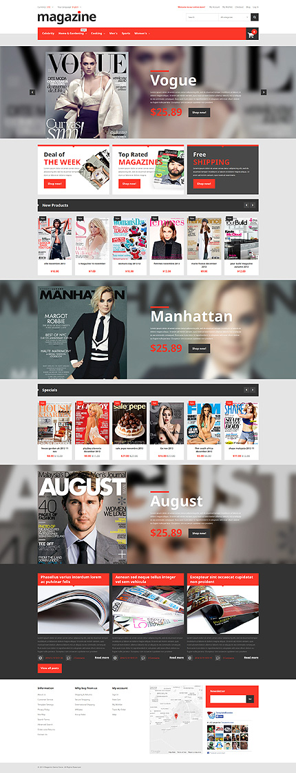 Media Most Popular website inspirations at your coffee break? Browse for more Magento #templates! // Regular price: $179 // Sources available: .PSD, .XML, .PHTML, .CSS #Media #Most Popular #Magento