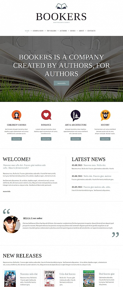 Books Most Popular website inspirations at your coffee break? Browse for more Moto CMS HTML #templates! // Regular price: $139 // Sources available:<b>Sources Not Included</b> #Books #Most Popular #Moto CMS HTML