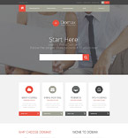 Responsive JavaScript Animated Template #52635