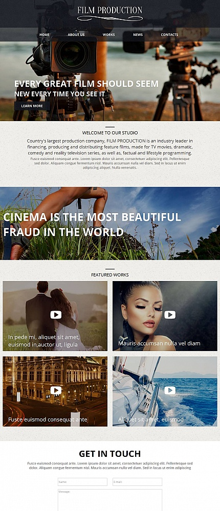 Media Most Popular website inspirations at your coffee break? Browse for more Moto CMS HTML #templates! // Regular price: $139 // Sources available:<b>Sources Not Included</b> #Media #Most Popular #Moto CMS HTML
