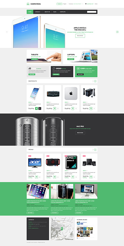 Computers Most Popular website inspirations at your coffee break? Browse for more VirtueMart #templates! // Regular price: $139 // Sources available: .HTML,  .PSD, .PHP, .XML, .CSS, .JS #Computers #Most Popular #VirtueMart