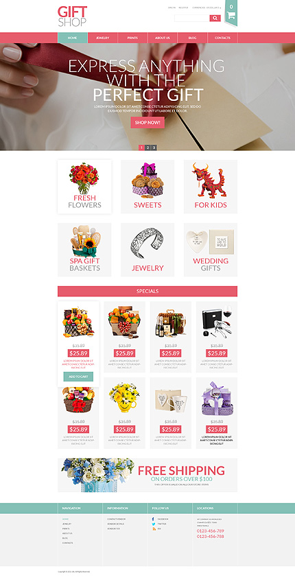 Gifts Most Popular website inspirations at your coffee break? Browse for more VirtueMart #templates! // Regular price: $139 // Sources available: .HTML,  .PSD, .PHP, .XML, .CSS, .JS #Gifts #Most Popular #VirtueMart