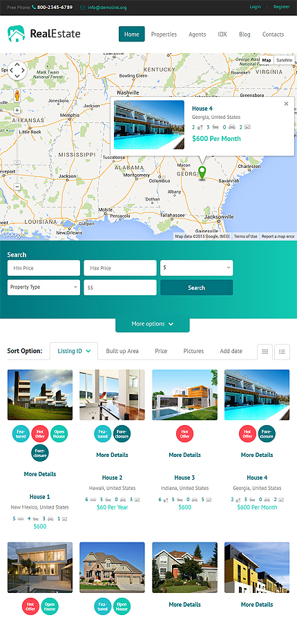 Real Estate Most Popular website inspirations at your coffee break? Browse for more WordPress #templates! // Regular price: $75 // Sources available: .PSD, .PHP, This theme is widgetized #Real Estate #Most Popular #WordPress