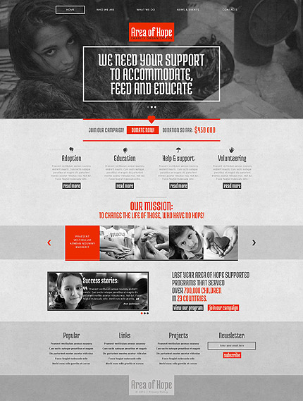 Most Popular Charity website inspirations at your coffee break? Browse for more Drupal #templates! // Regular price: $75 // Sources available: .PSD, .PHP #Most Popular #Charity #Drupal