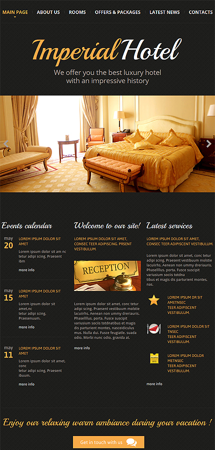 Hotels Most Popular website inspirations at your coffee break? Browse for more Responsive JavaScript Animated #templates! // Regular price: $69 // Sources available: .HTML,  .PSD #Hotels #Most Popular #Responsive JavaScript Animated