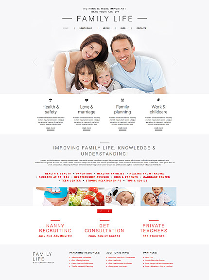 Family Most Popular website inspirations at your coffee break? Browse for more Joomla #templates! // Regular price: $75 // Sources available: .PSD, .PHP #Family #Most Popular #Joomla