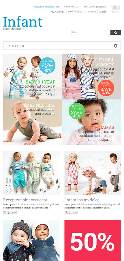 Family Most Popular website inspirations at your coffee break? Browse for more Magento #templates! // Regular price: $179 // Sources available: .PSD, .XML, .PHTML, .CSS #Family #Most Popular #Magento