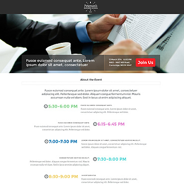 Landing Page Template # 53179
