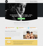 Charity Center Landing Page Template