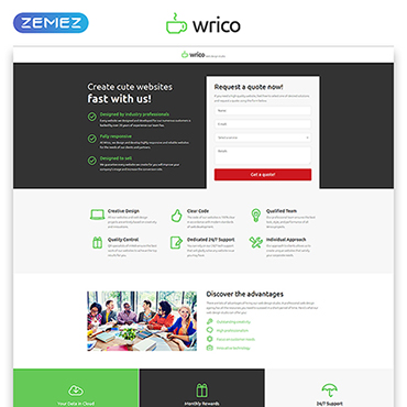 Landing Page Template # 53182