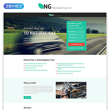 Landing Page Template # 53183
