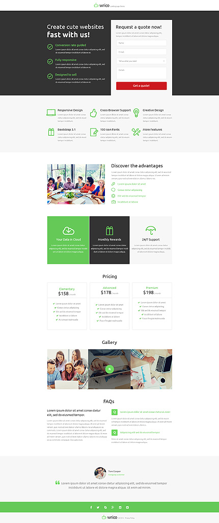 Unbounce Template Screenshot