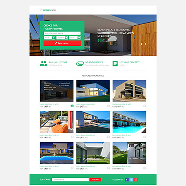 Landing Page Template # 53201
