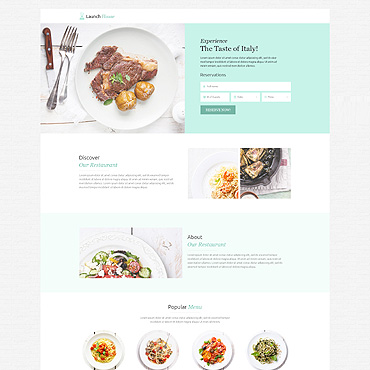 Landing Page Template # 53202