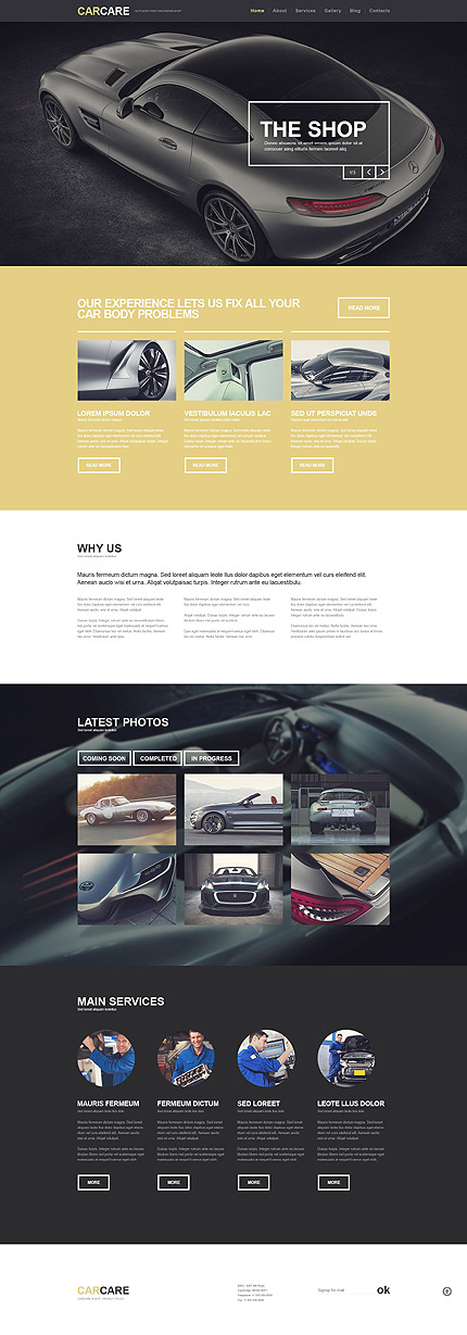 Car Care WordPress Template