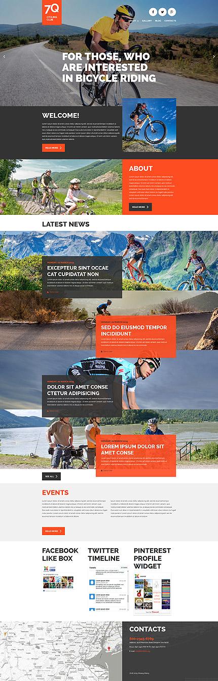 Cycling Club Joomla Template