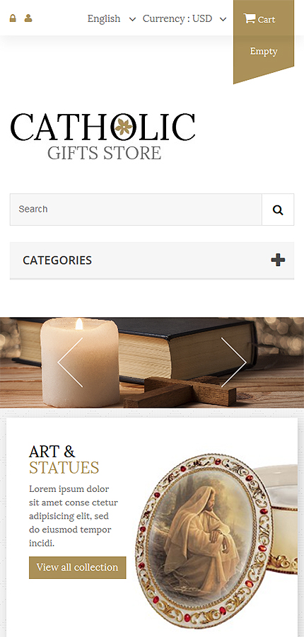 Religious Most Popular website inspirations at your coffee break? Browse for more PrestaShop #templates! // Regular price: $139 // Sources available: .PSD, .PHP, .TPL #Religious #Most Popular #PrestaShop