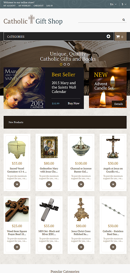 Religious Most Popular website inspirations at your coffee break? Browse for more Magento #templates! // Regular price: $179 // Sources available: .PSD, .XML, .PHTML, .CSS #Religious #Most Popular #Magento