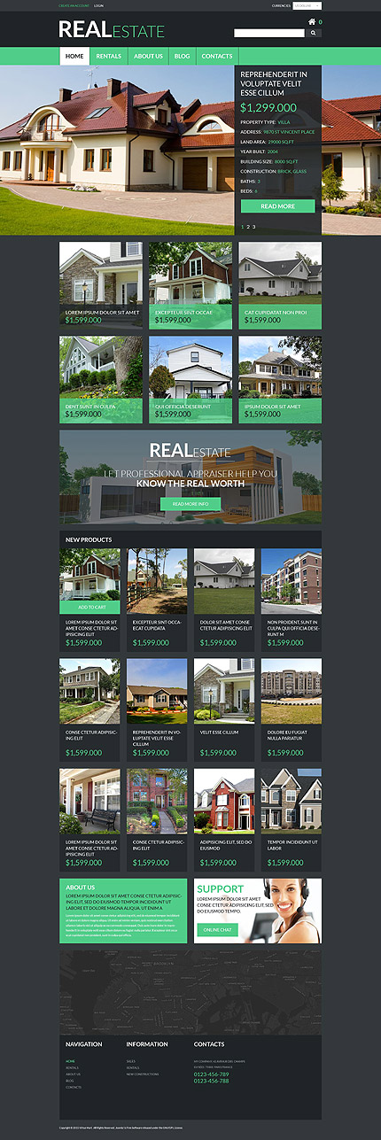 Real Estate Most Popular website inspirations at your coffee break? Browse for more VirtueMart #templates! // Regular price: $139 // Sources available: .HTML,  .PSD, .PHP, .XML, .CSS, .JS #Real Estate #Most Popular #VirtueMart