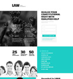 Lawyers Agency Landing Page Template