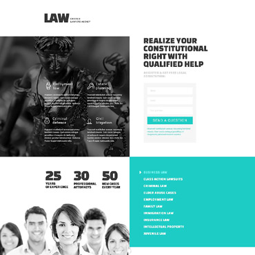 Landing Page Template # 53359