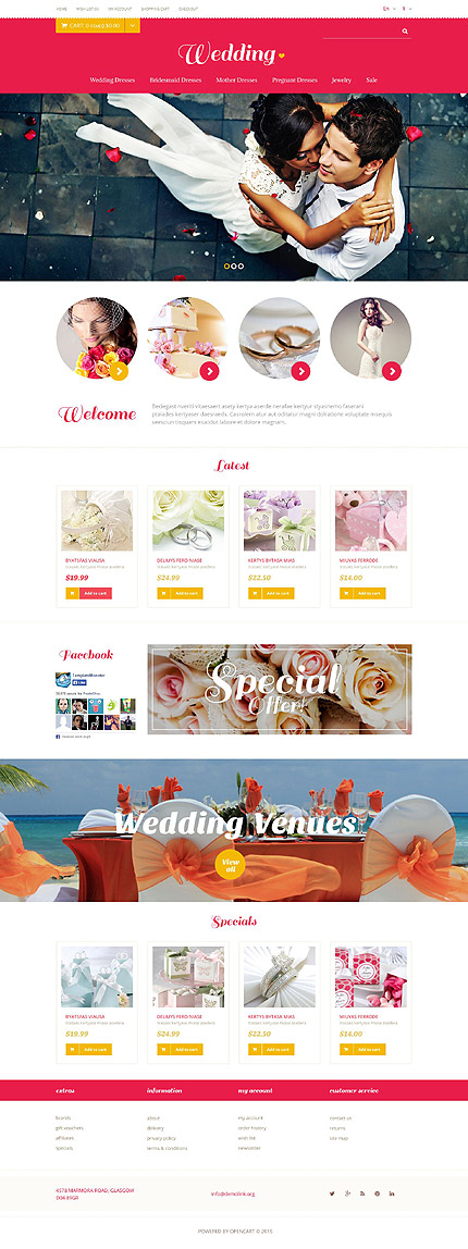 Wedding Most Popular website inspirations at your coffee break? Browse for more OpenCart #templates! // Regular price: $45 // Sources available: .PSD, .PNG, .PHP, .TPL, .JS #Wedding #Most Popular #OpenCart