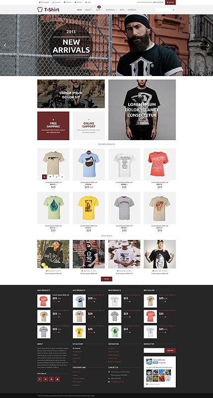 T-Shirt Shop Responsive WooCommerce Template