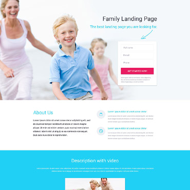 Landing Page Template # 53459