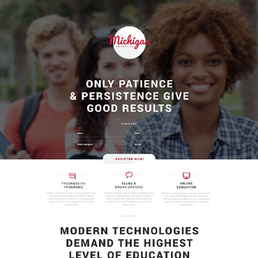 Landing Page Template # 53461