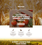 Agriculture Company Landing Page Template