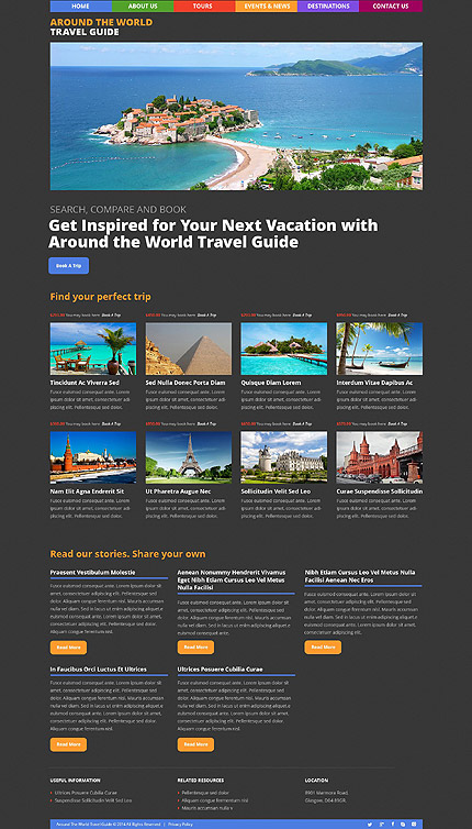 Travel Most Popular website inspirations at your coffee break? Browse for more WordPress #templates! // Regular price: $75 // Sources available: .PSD, .PHP, This theme is widgetized #Travel #Most Popular #WordPress