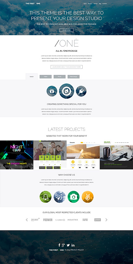 Web Design Most Popular website inspirations at your coffee break? Browse for more WordPress #templates! // Regular price: $75 // Sources available: .PSD, .PHP, This theme is widgetized #Web Design #Most Popular #WordPress