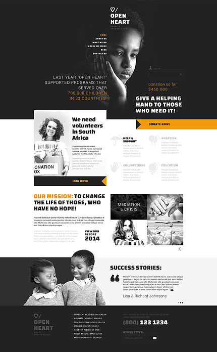 Most Popular Charity website inspirations at your coffee break? Browse for more Joomla #templates! // Regular price: $75 // Sources available: .PSD, .PHP #Most Popular #Charity #Joomla