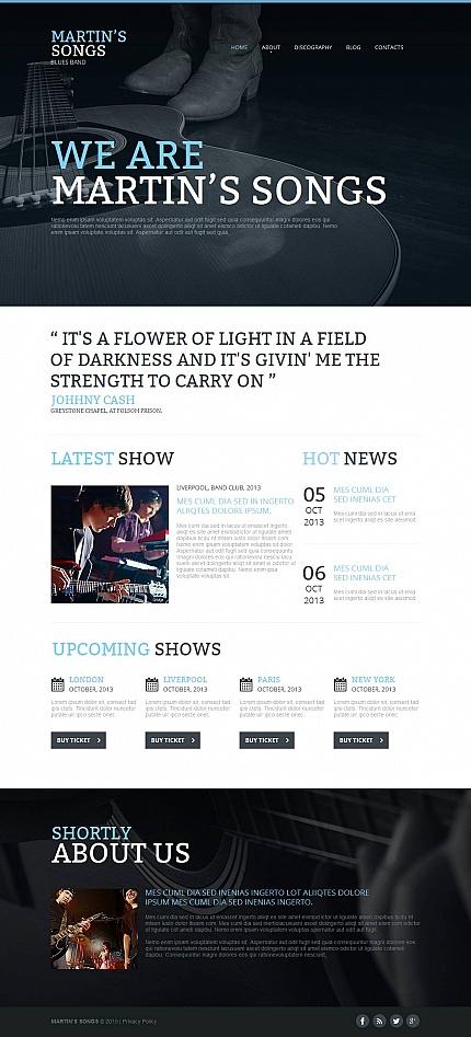 Light Cms Templates | Music Type Moto Cms Html Templates Template 53511 Espresso