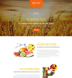 Agriculture Landing Page Template