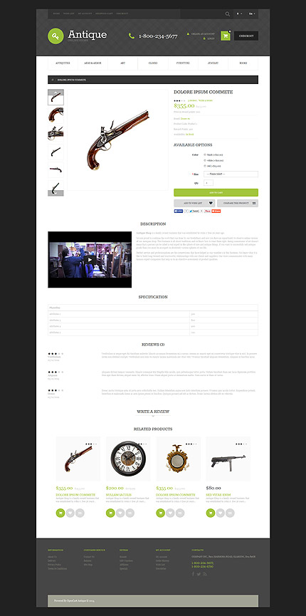 Most Popular Antique Templates website inspirations at your coffee break? Browse for more OpenCart #templates! // Regular price: $45 // Sources available: .PSD, .PNG, .PHP, .TPL, .JS #Most Popular #Antique Templates #OpenCart