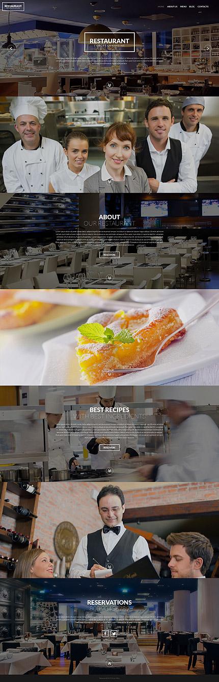 Restaurant European Cuisine - Template WordPress