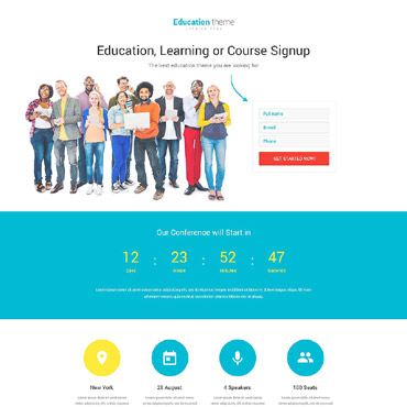 Landing Page Template # 53645
