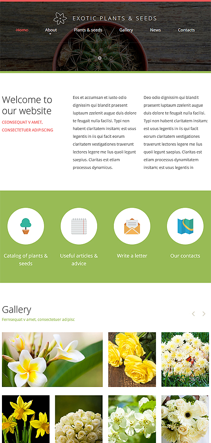Template 53648 ensegna themes for Exterior design website templates