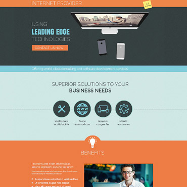Landing Page Template # 53666