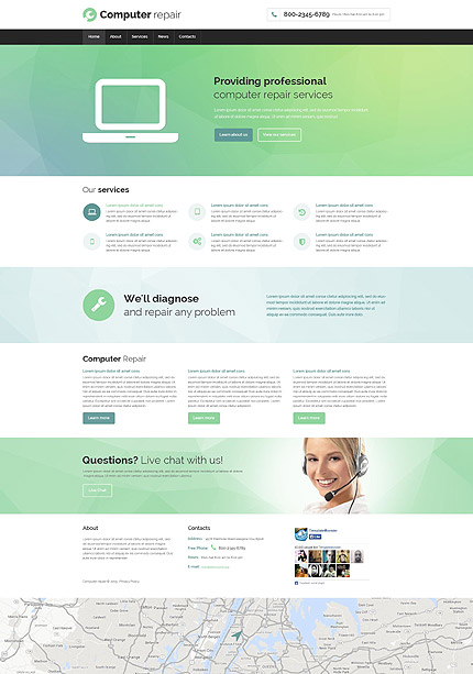 Computers Most Popular website inspirations at your coffee break? Browse for more Bootstrap #templates! // Regular price: $75 // Sources available: .HTML,  .PSD #Computers #Most Popular #Bootstrap