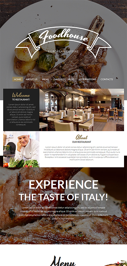 Cafe and Restaurant Most Popular website inspirations at your coffee break? Browse for more WordPress #templates! // Regular price: $75 // Sources available: .PSD, .PHP, This theme is widgetized #Cafe and Restaurant #Most Popular #WordPress