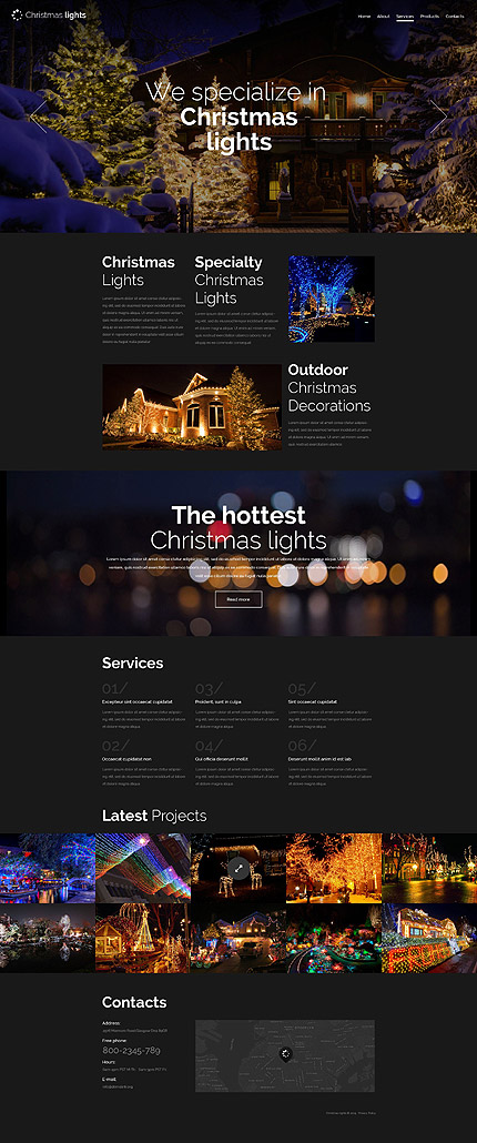 Most Popular Christmas Templates website inspirations at your coffee break? Browse for more Bootstrap #templates! // Regular price: $75 // Sources available: .HTML,  .PSD #Most Popular #Christmas Templates #Bootstrap
